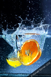 Fotografie_Obst_im_Wasser_Zitrusfrüchte
